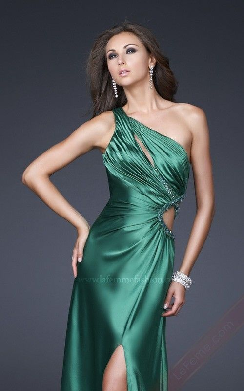 Another gown which reminds me of Adlivun! I am seriously considering buying this one. :)    2012 la femmee 16358 LF-16358 Green One-Shoulder Prom dresses,Green Evening Gowns LFME02410