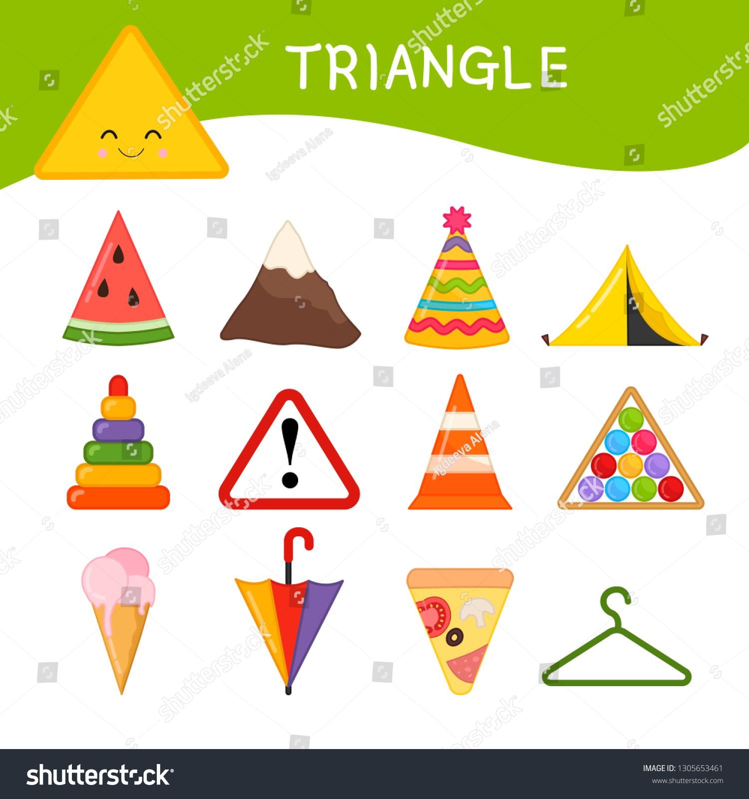 Materials For Kids Learning Forms A Set Of Triangle