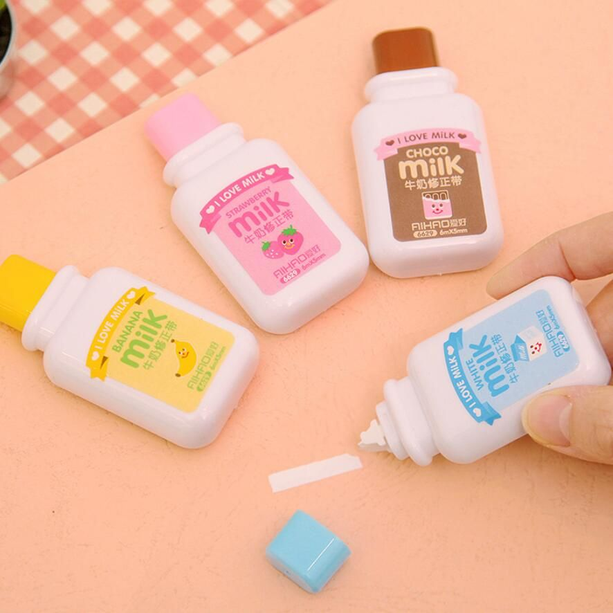 Correction Tape Kawaii Milk Plastic Kids Writings Student Office School Supplies