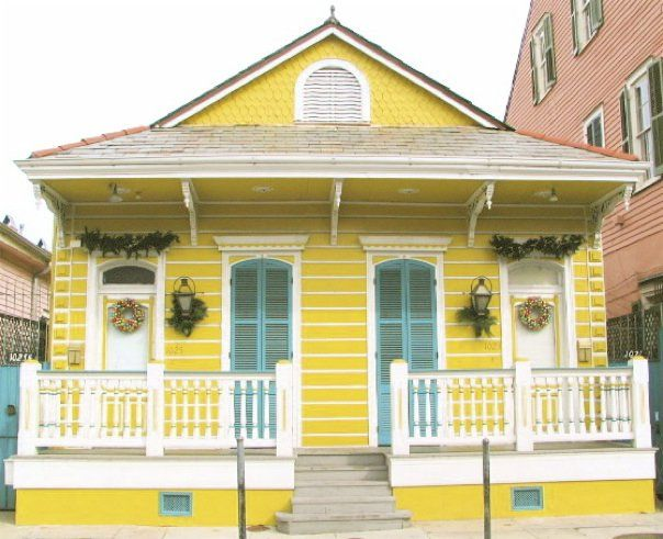 Yellow House White Blue Gray Maybe Not Such A Bright Yellow