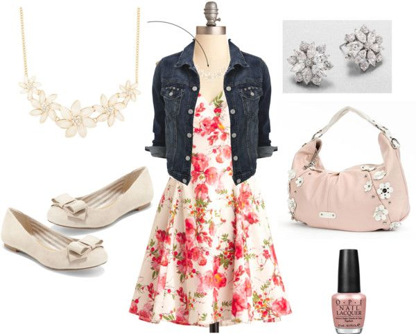 """Floral Dress"" by photo-chic ❤ liked on Polyvore"