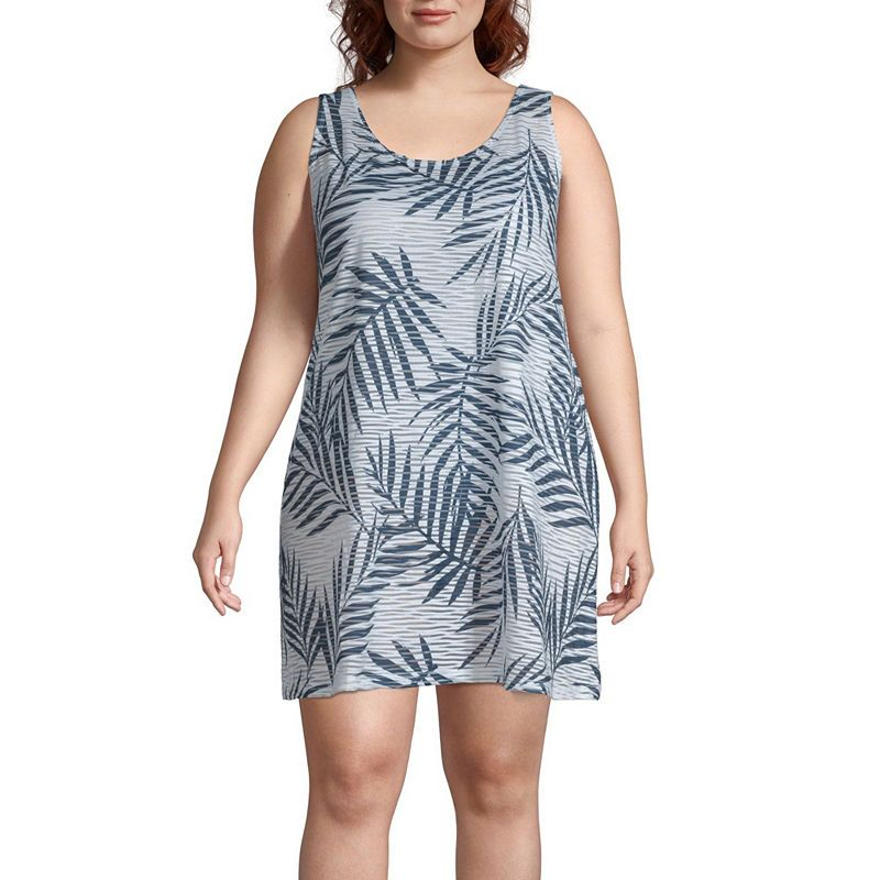 a806d0eb07 Porto Cruz Leaf Knit Swimsuit Cover-Up Dress-Plus   Products ...