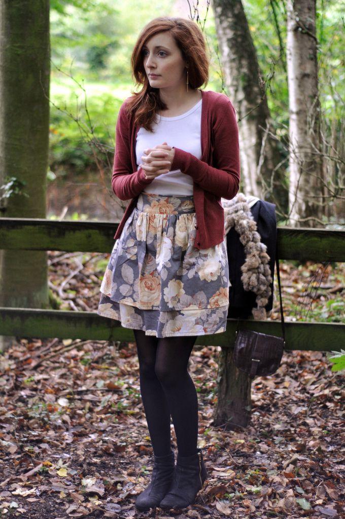 47fd1e56e9c0 Floral Skirt