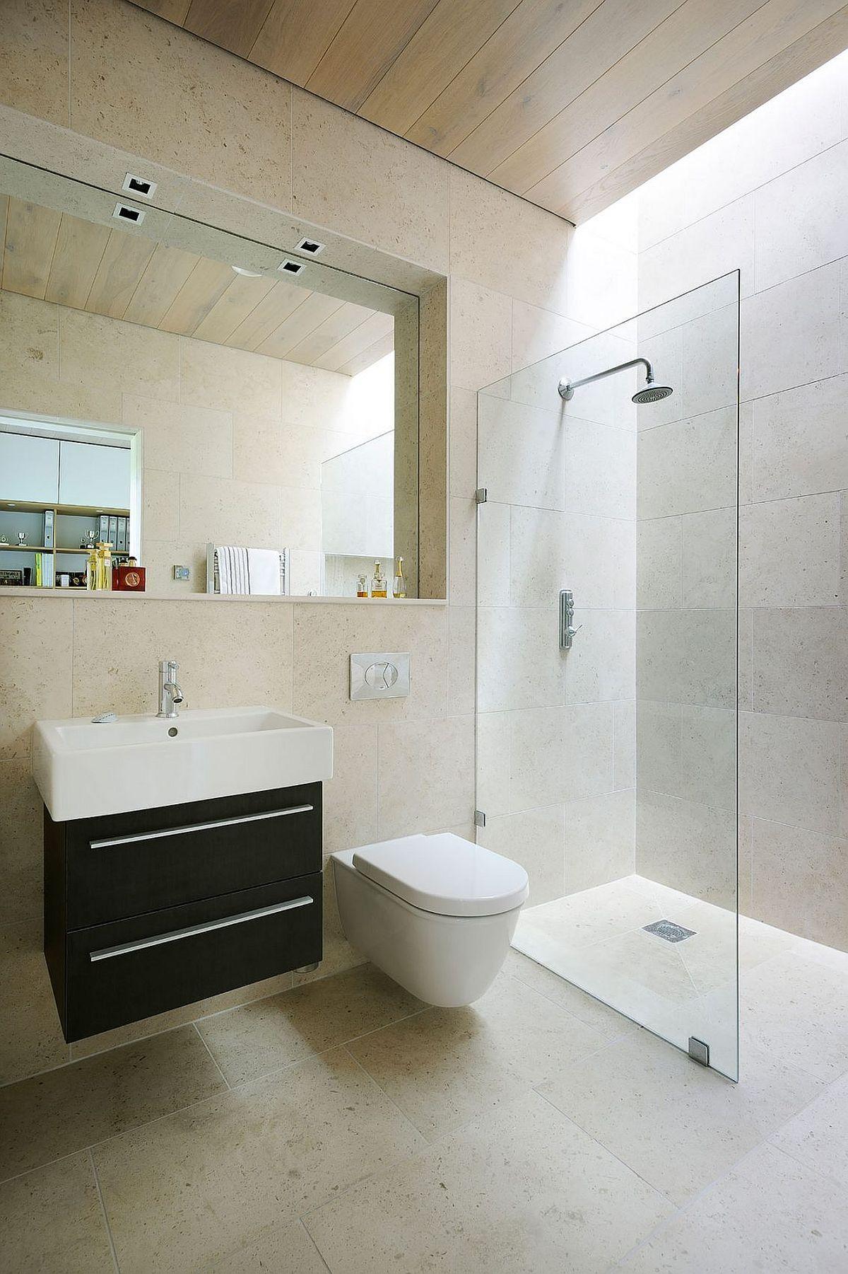 Badezimmer Design Ideen Verwenden Sie Die Gleiche Fliese Auf Den