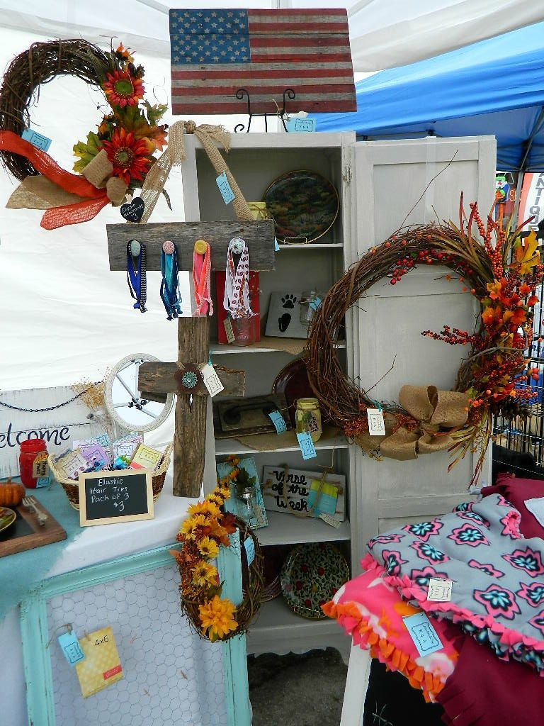 pictures from eagleville fall festival craft fair booth setup