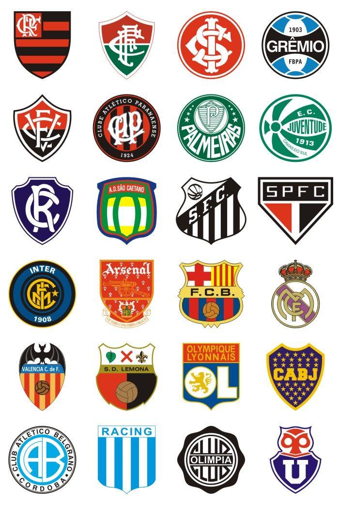 É isso mesmo são 1400 Escudos de Clubes de Futebol do Brasil e do mundo  vetorizados e 100% editaveis no CorelDraw 4f55cc2b4405b