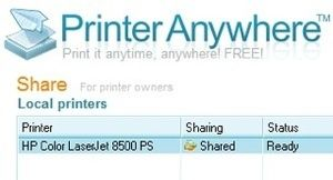 Print to Any Computer Over the Internet with PrinterAnywhere