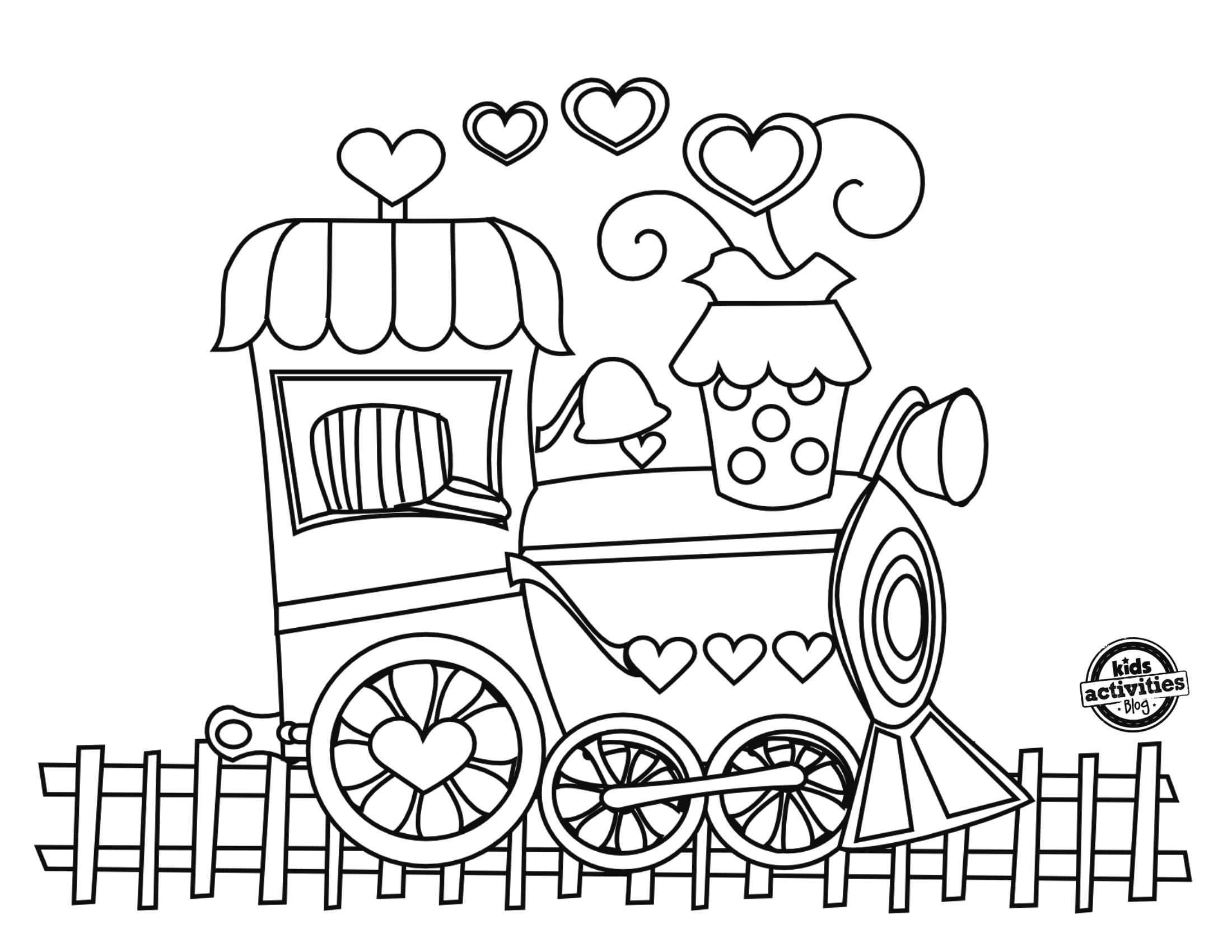 Love Train Coloring Page New Train Coloring Pages Preschool Kids Coloring Pages