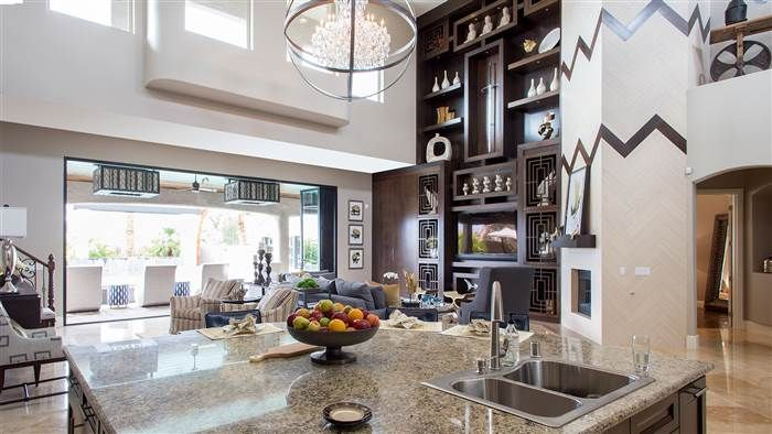 See how the 39 property brothers 39 remodeled their own las - Hgtv before and after living rooms ...