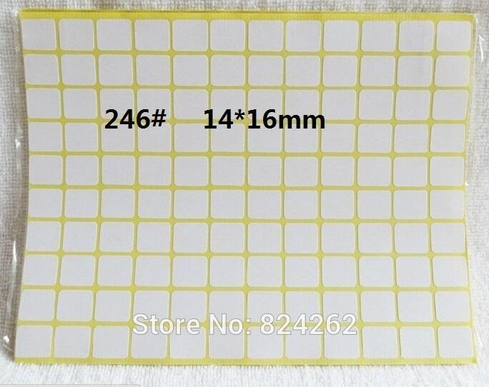 [Visit to Buy] 246# size 14 x 16 mm 240pcs/lot blank sticker sheet blank label sheet  price stickers #Advertisement