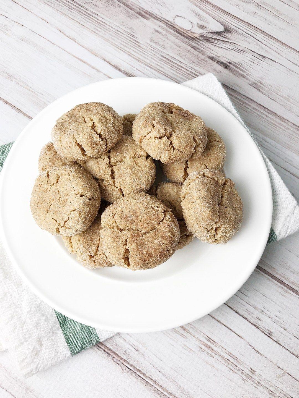 Keto Snickerdoodle Cookies Recipe Snicker Doodle Cookies Food Recipes Healthy Work Snacks