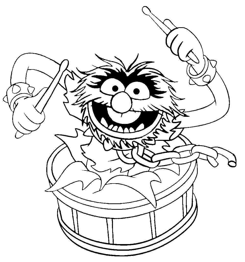 Muppets Animal Free Printable: Muppet Show Coloring Pages