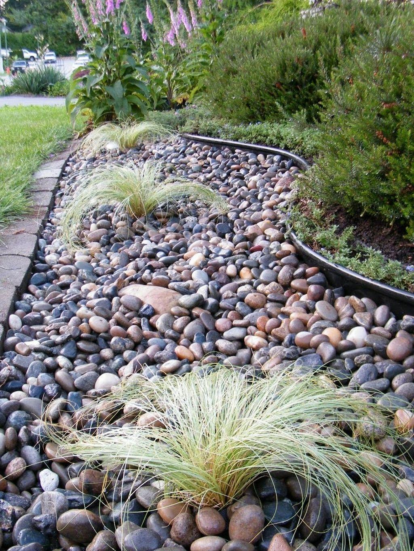 41 Simple Backyard Landscaping With Rocks River Rock Garden River Rock Landscaping Landscaping With Rocks