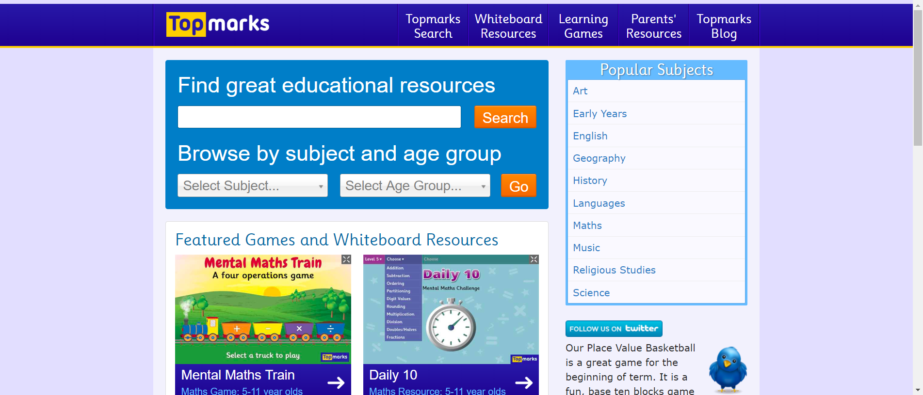 Topmarks Education Teaching Resources Interactive