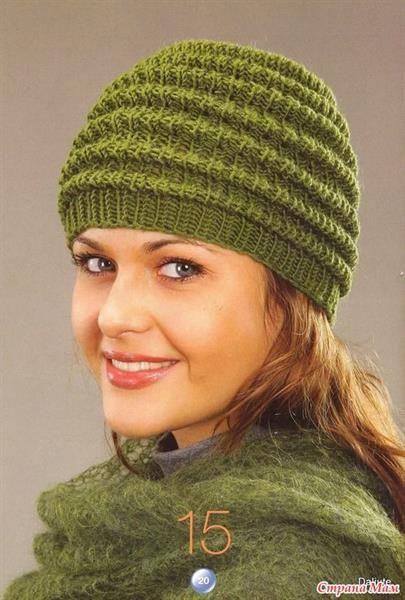 Вязание спицами для женщин шапка   Шапки, шапочки   Pinterest