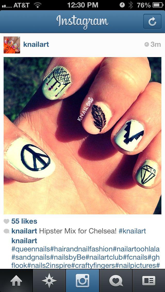 Hippie nails | n.a.i.l. a.r.t. | Pinterest | Hippie nails ...