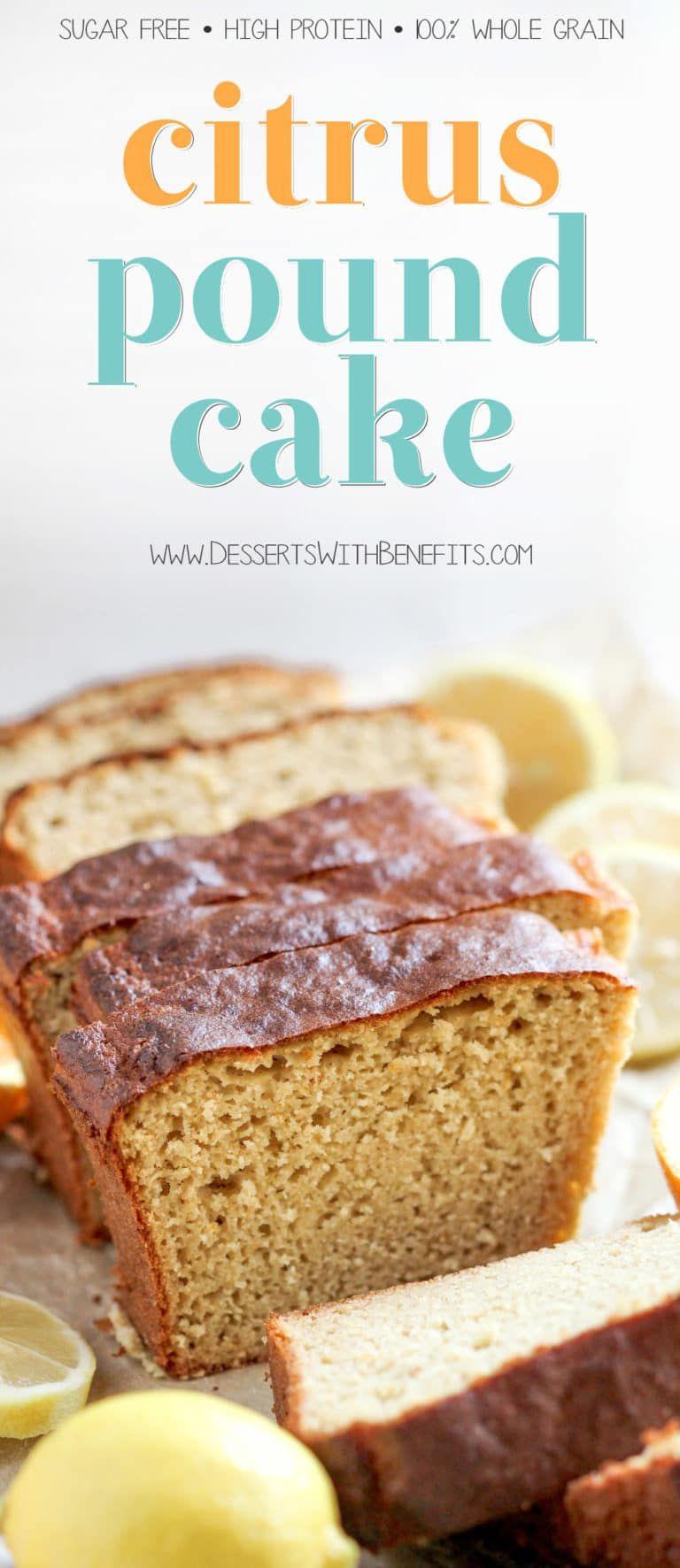 Healthy Citrus Pound Cake Recipe Dairy free yogurt