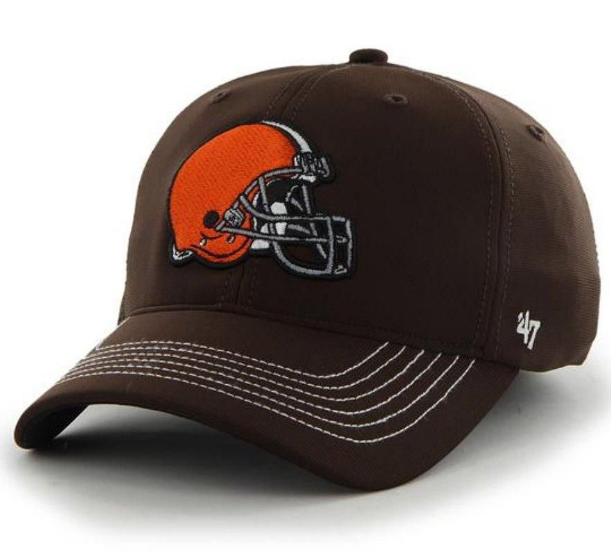 4ad945e17388b ... clearance cleveland browns 47 brand brown game time closer performance  flexfit hat cap ef836 f260d
