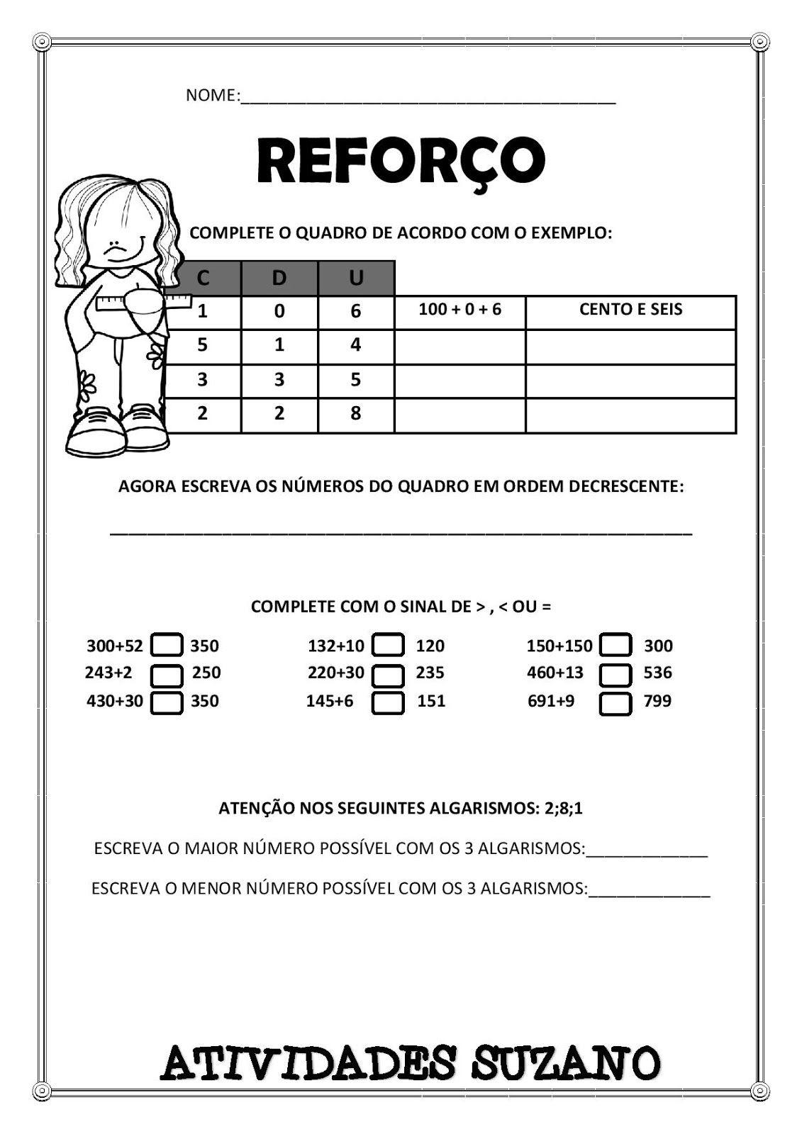 Pin De Joysemara Souza Em Reforco Atividades De Matematica