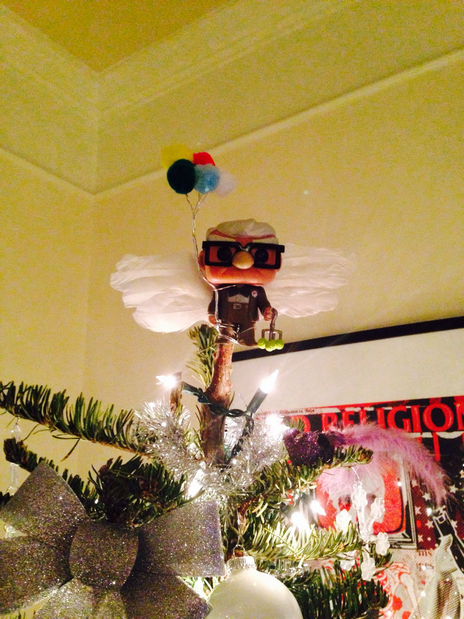 Diy Carl From Up Pixardisney Xmas Tree Topper