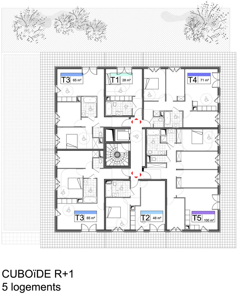 04 plan r 2 concept lgt plan schema pinterest for Immeuble bureau plan