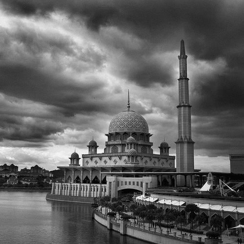 Putrajaya Mosque In BW