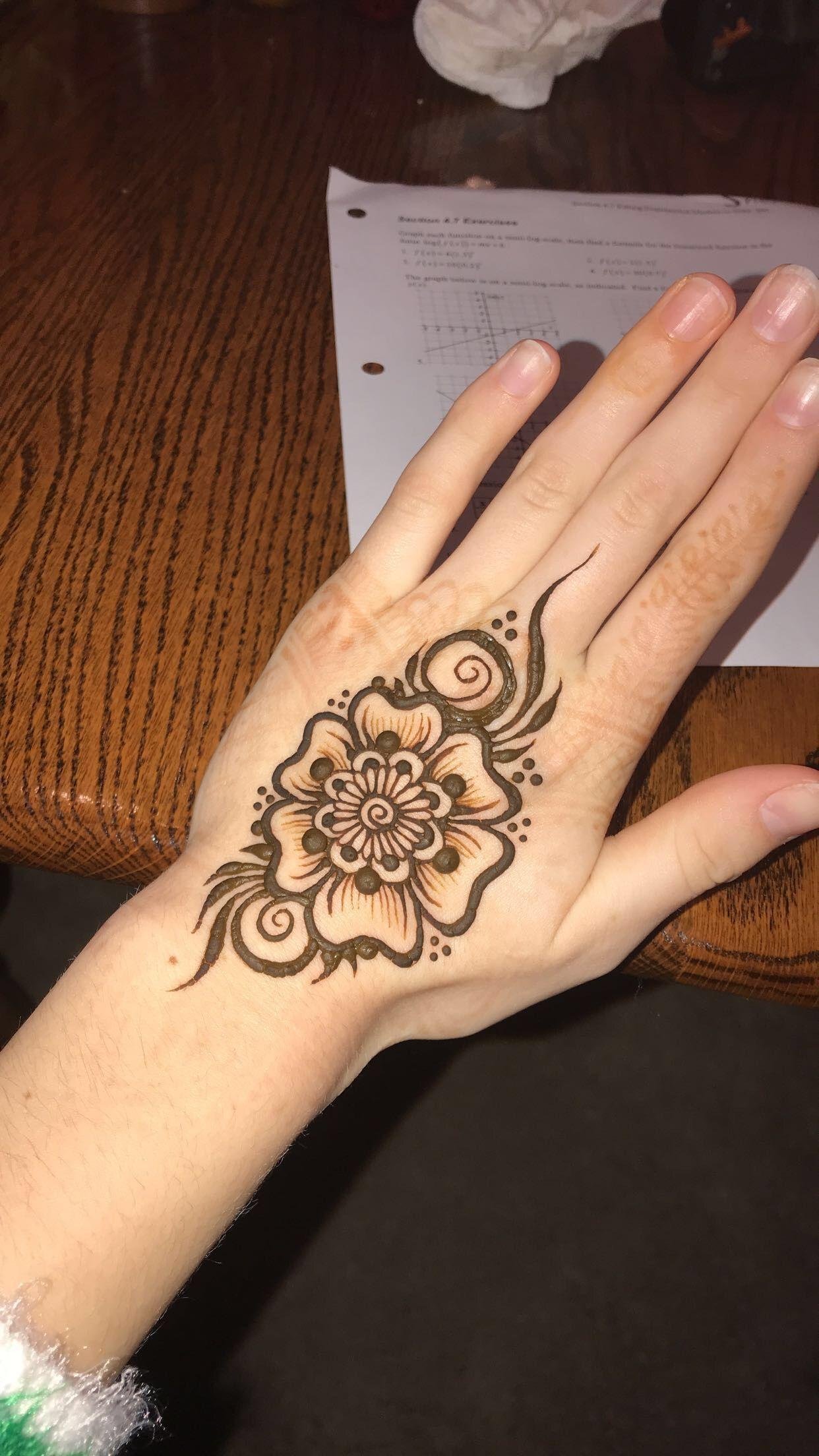 Flower Henna! Inspired By @mehndikajoeyhenna On Insta