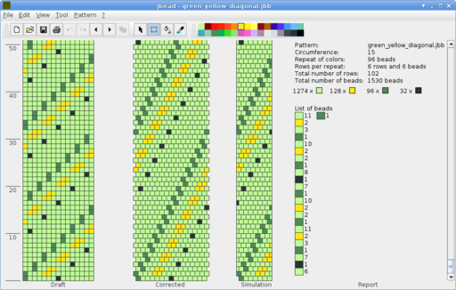 Cute jbead free downloadable software to use for bead crochet rope design This is a