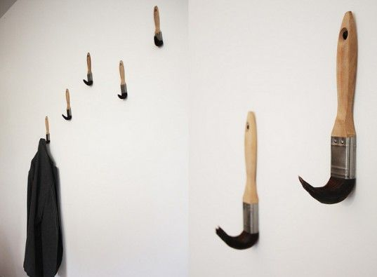 Dominic Wilcox Upcycles Old Paint Brushes Into Fun Coat Hooks