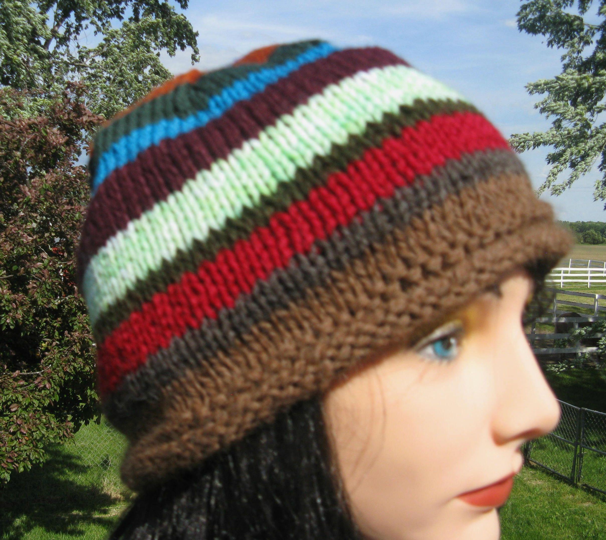 6aa704e44d Knit Hat, Alpaca Wool Beanie for Men or Women, Jerry's hat in Twin ...