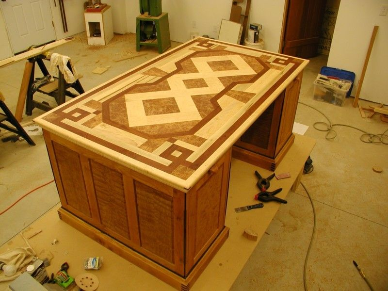 Parquet Partners Desk Reader S Gallery Fine Woodworking Desk Plans Partners Desk Woodworking Desk Plans