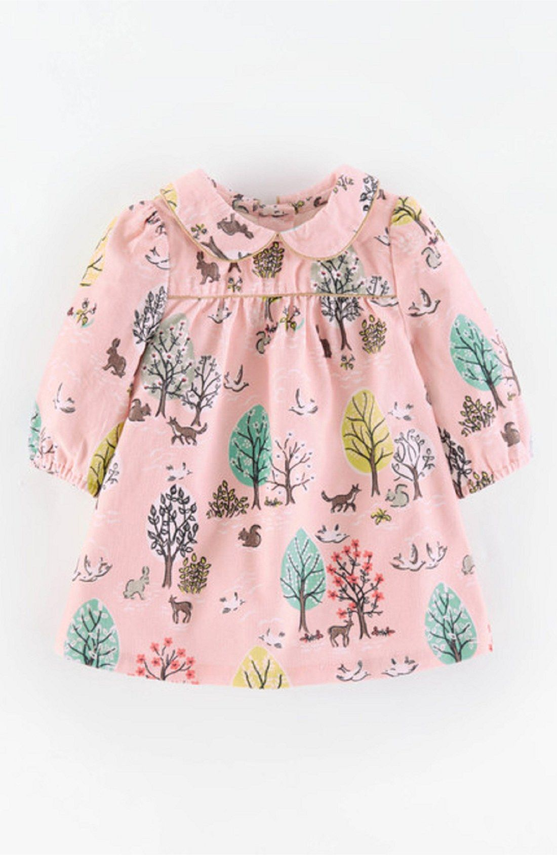 d9d865e4ccdc0 Free shipping and returns on Mini Boden 'Charming' Peter Pan Collar Corduroy  Dress (Baby Girls) at Nordstrom.com. A pretty print covers a charming ...