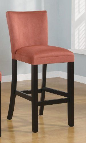 Set Of 2 29 H Bar Stools Terracotta Microfiber By Coaster Home