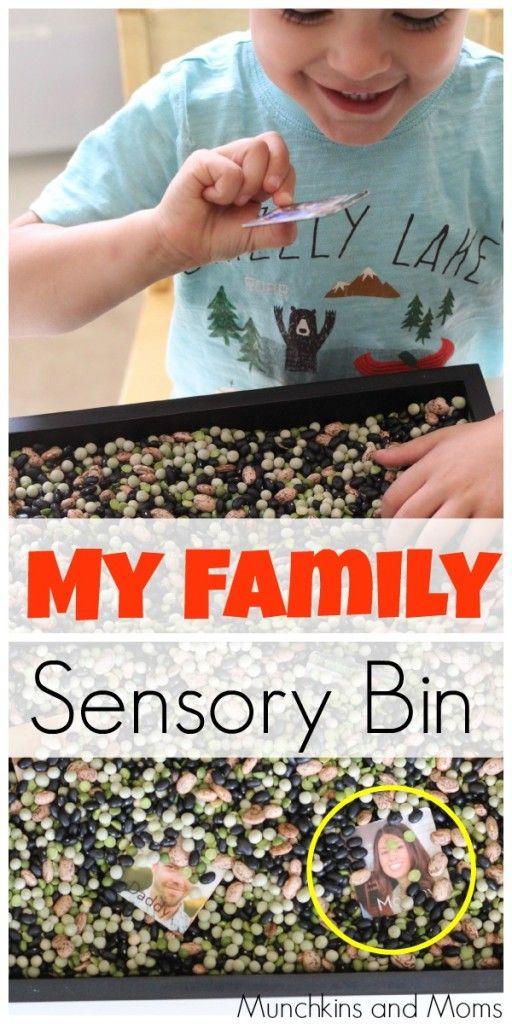 Quot My Family Quot Sensory Bin Preschool Themes Sensory