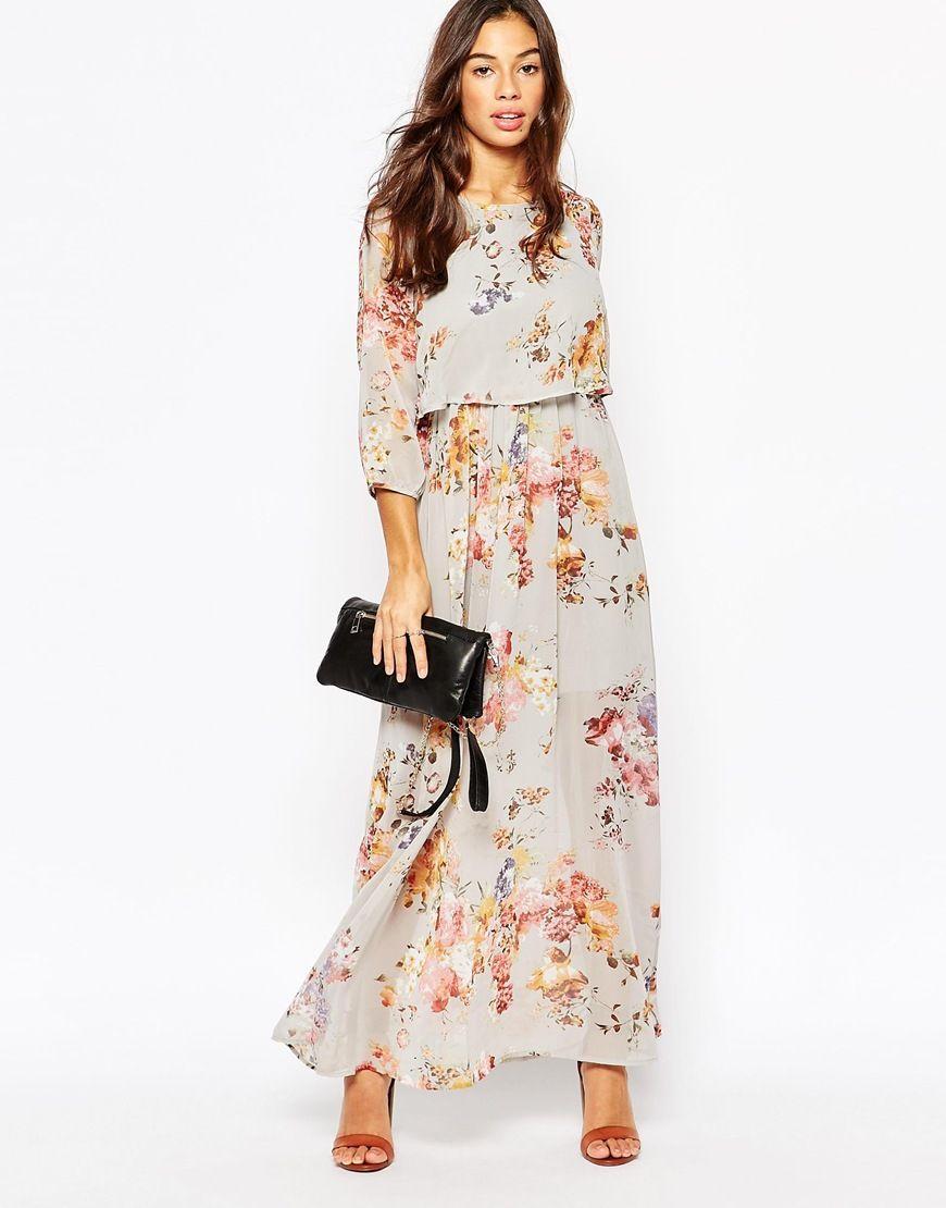 9768c2175c8 Image 4 of Vero Moda Petite 3 4 Sleeve Floral Maxi Dress