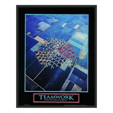 Frames By Mail Motivational Framed Teamwork Print 28 X 22
