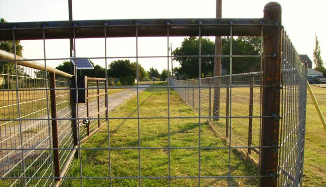 Utility fence welded to metal posts fencing ideas