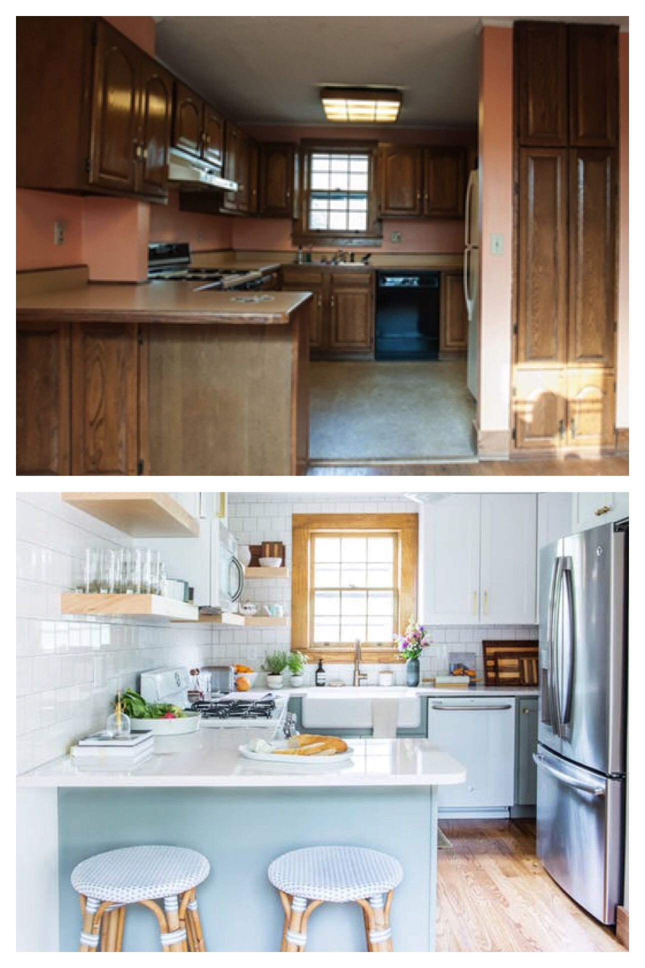 Before After This Kitchen Had One Great Thing Worth Saving Kitchen Design Kitchen Kitchen Remodel