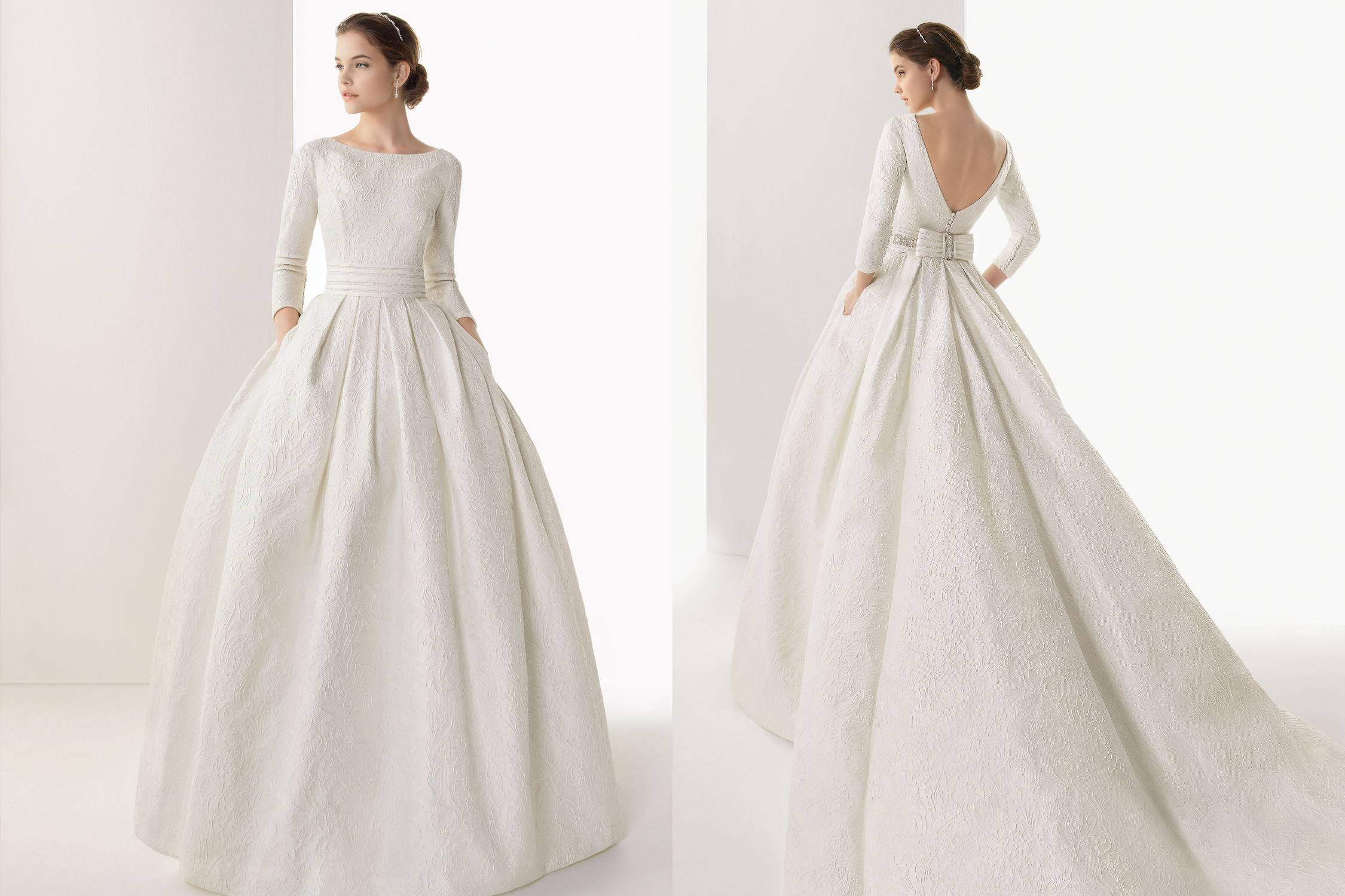 Rosa Clara Classic Sleeved Wedding Dress / I Love The 3/4