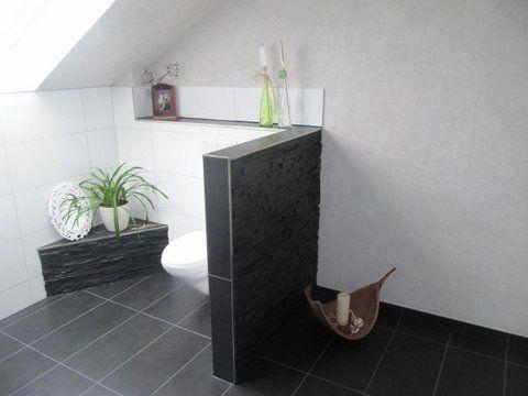 Heinrich Wohnraumveredelung » Bad in schwarz-weiß mit ebenerdiger - schwarz wei fliesen bad