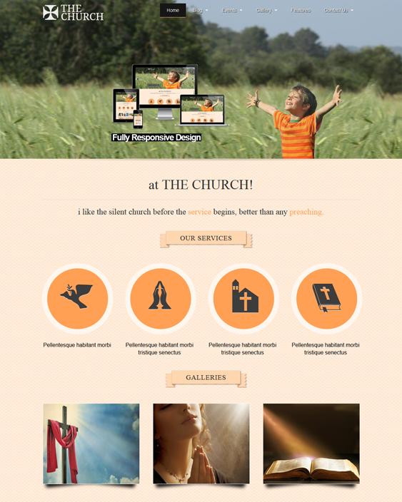 this church joomla template has a responsive layout phoca image