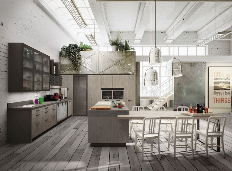 Modern Industrial Design In The Kitchen Industrial Decor Kitchen