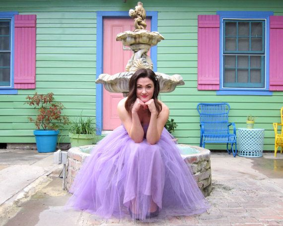 SALE see Coupon Code  Enchanting 1950's Purple Tulle Party/Prom Gown