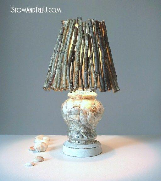 Coastal inspired diy twig lamp shade stowtellu
