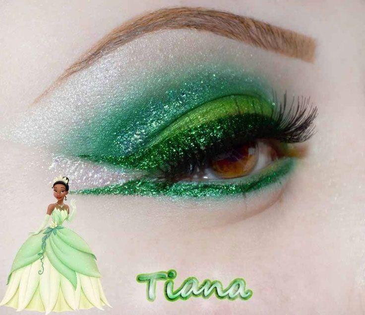 Princess Tiana Makeup: Trucco-occhi-verde-principessa-disney-tiana