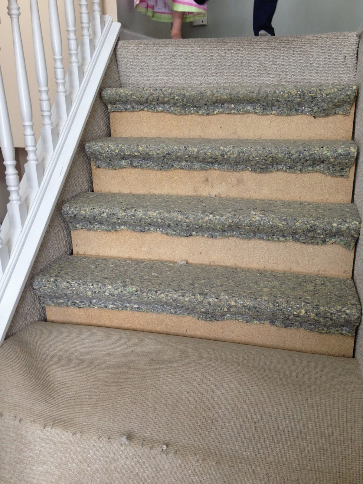 removing carpet from the stairs The Serene Swede on Remodelaholic