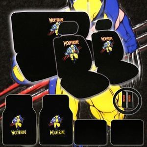 New 15pc Universal Marvel Wolverine Car Seat Covers Mat