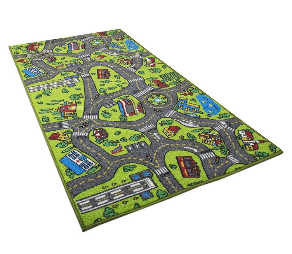 Kids Play Rug Cars Street Playmat City Fun Children Bedroom Colorful Toy Carpet Angels City Kids Area Rugs Rugs On Carpet Play Rug