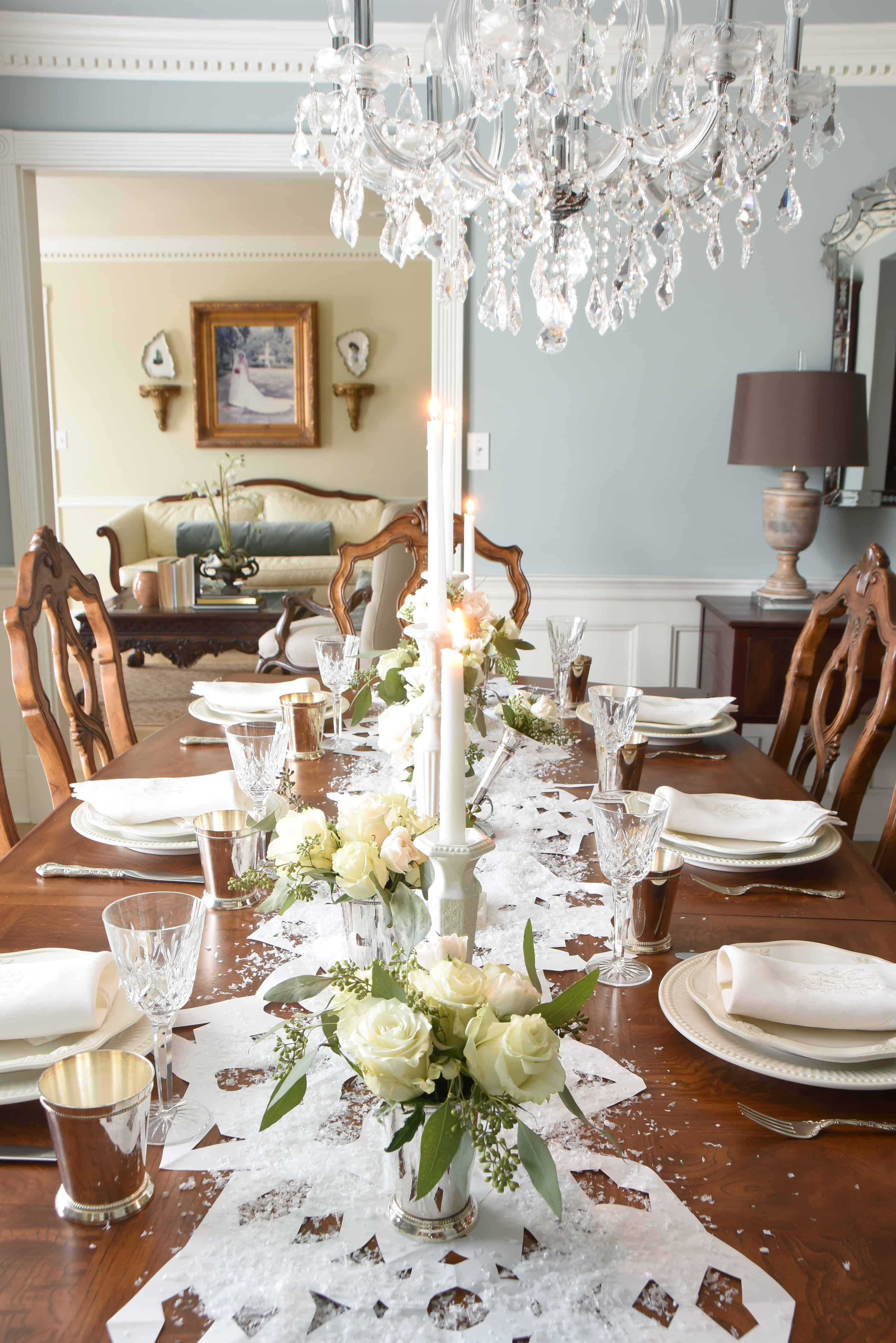 A Snowy Formal Dining Table Formal Dining Tables Formal Table