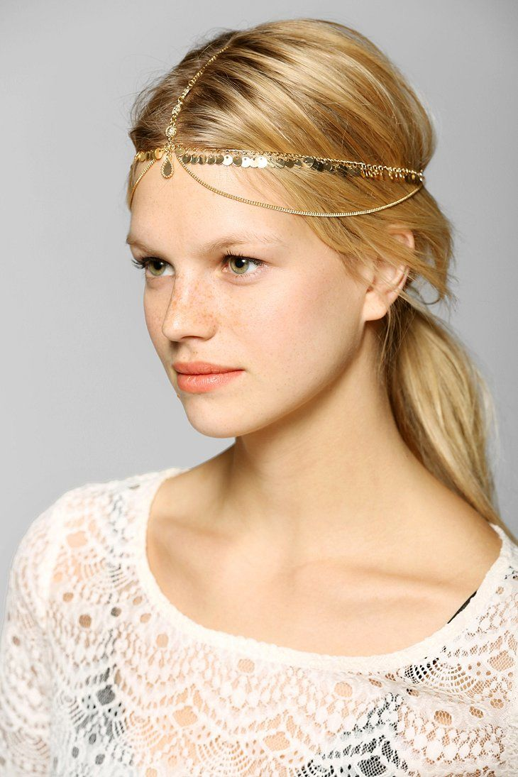 Coin Fringe Goddess Chain Headwrap - Urban Outfitters  ffe366acf8f